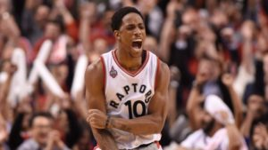 Demar DeRozan and the Toronto Raptors Sit in 2nd Place.