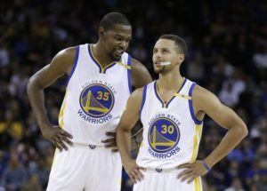 Kevin Durant and Steph Curry Lead the Super Team for the Warriors.