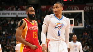 Russell Westbrook and James Harden are making history in 2017.