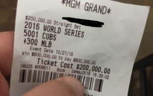 Betting the Cubs Popular Bet