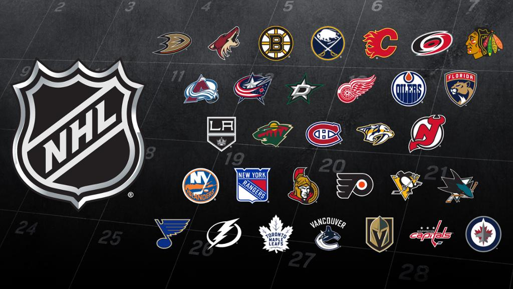 NHL Monthly Game Schedule by the Month