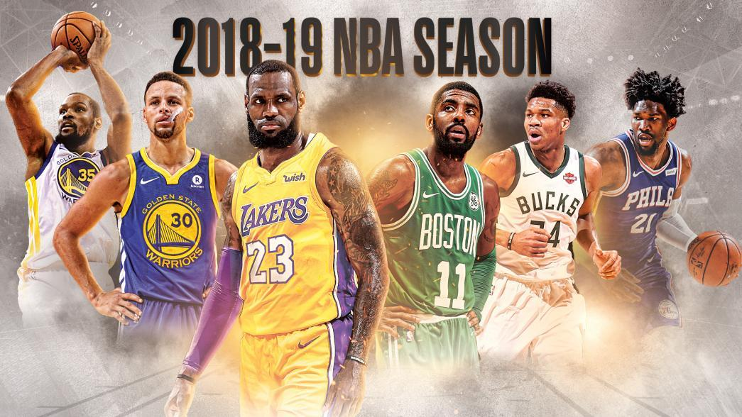 2018-2019 NBA Schedule by the Month