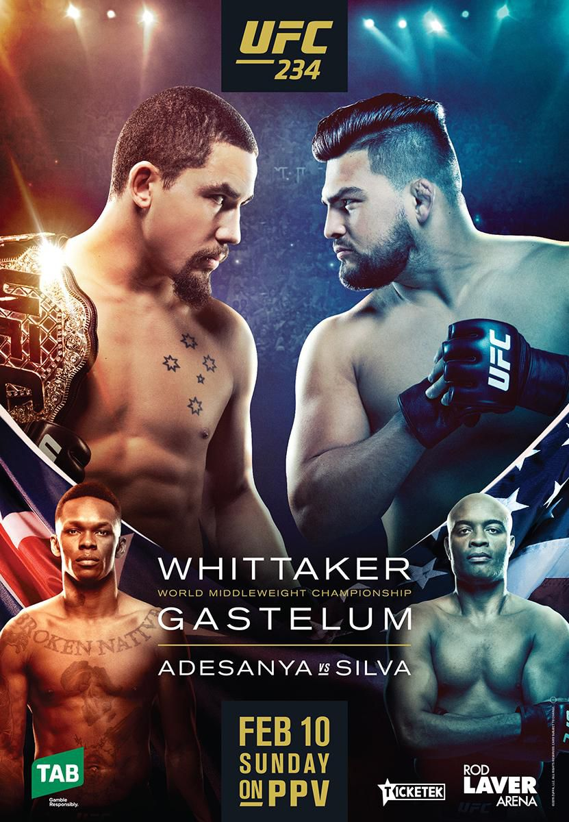 UFC 234- Whittaker vs Gastelum- Odds, Picks, and Predictions