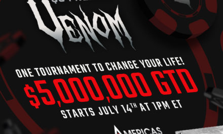 The $5 Million Venom on Americas Cardroom is going to make someone an instant millionaire