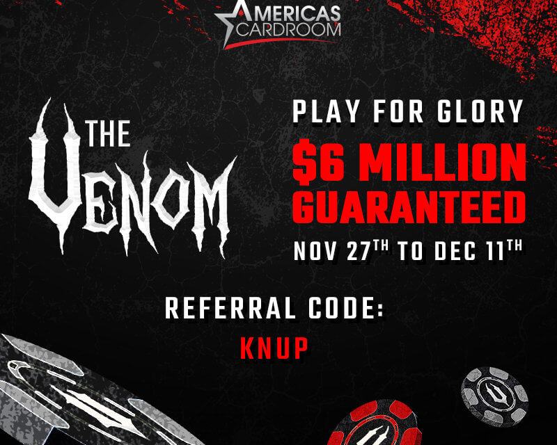 Cyclones make it simple to win your $6 Million Venom seat at Americas Cardroom