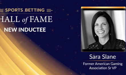 Star Advocate Sara Slane in Sports Betting Hall of Fame Class of 2020