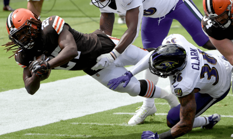 Ravens Browns Betting Pick Kareem Hunt