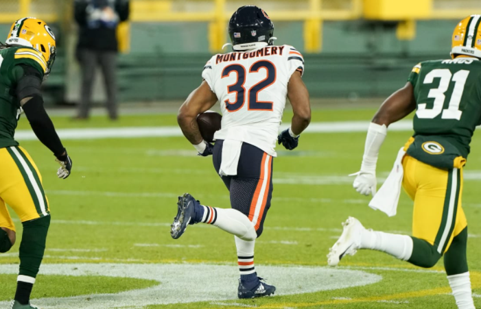 david montgomery packers vs bears preview