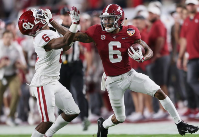 devonta smith college football playoff preview