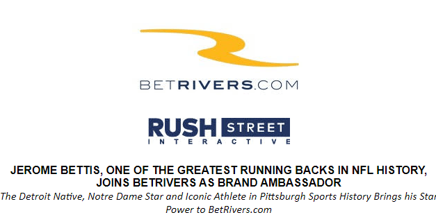 Jerome Bettis Joins BetRivers as Brand Ambassador