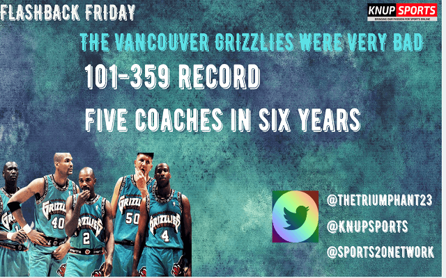 Flashback Friday: The Vancouver Grizzlies Were Never Good