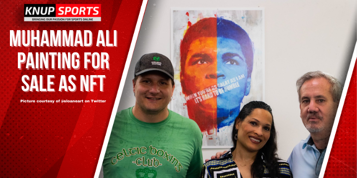 Muhammad Ali Painting For Sale as NFT