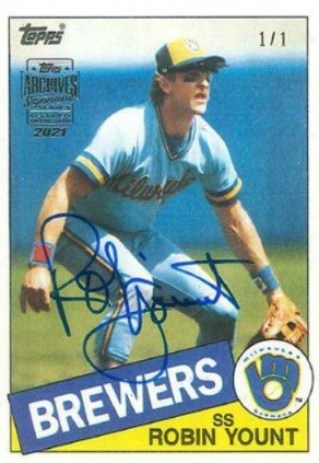 Topps Archives Signature Series Baseball Robin Yount
