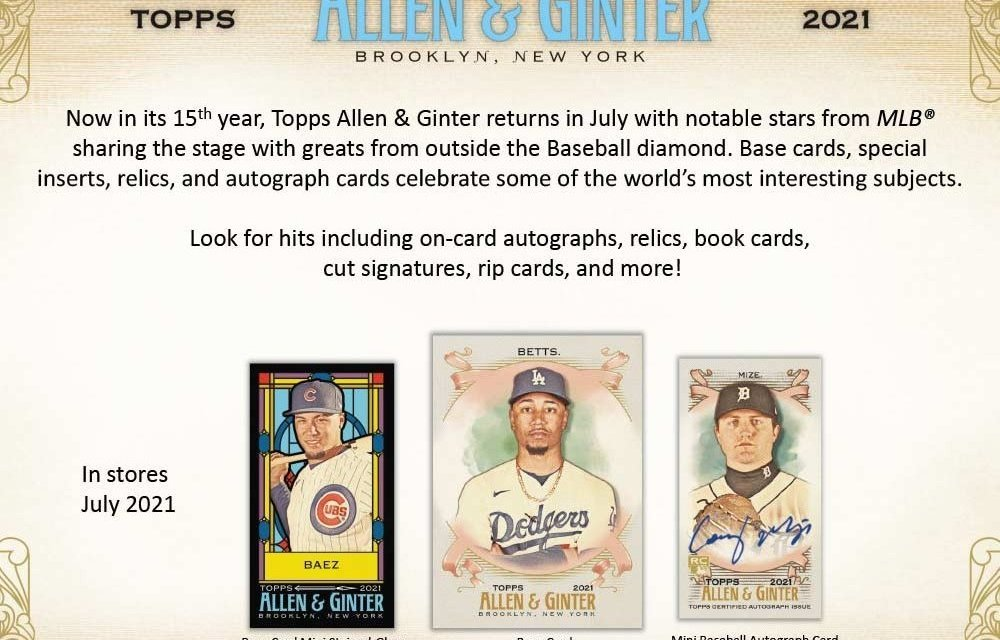 Introducing the 2021 Topps Allen and Ginter Collection