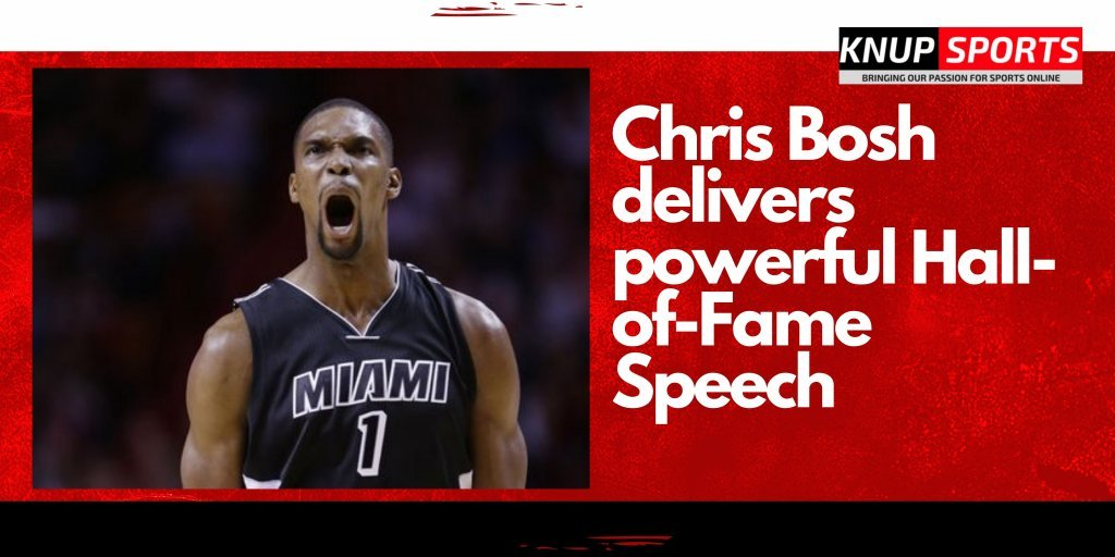 Chris Bosh delivers powerful Hall-of-Fame Speech